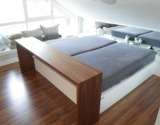 Betten und Ankleiden